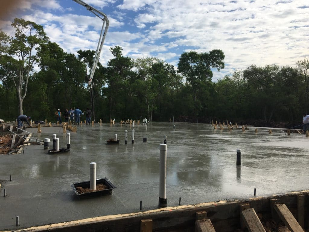 beam and pier slab custom home build