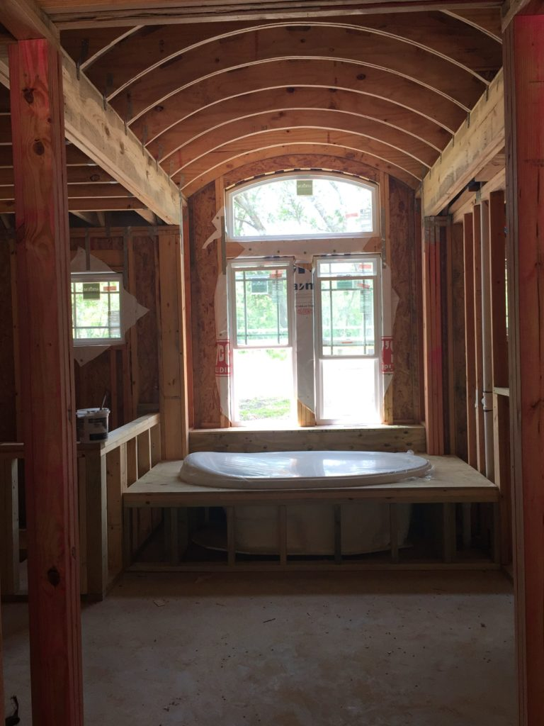 Barrel Ceiling Framing Completed.