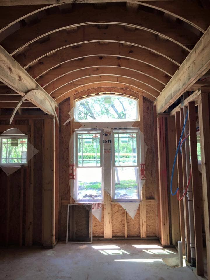 Barrel Ceiling in Master Bath