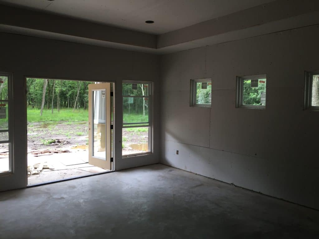 Sheetrock Hung Master Bedroom