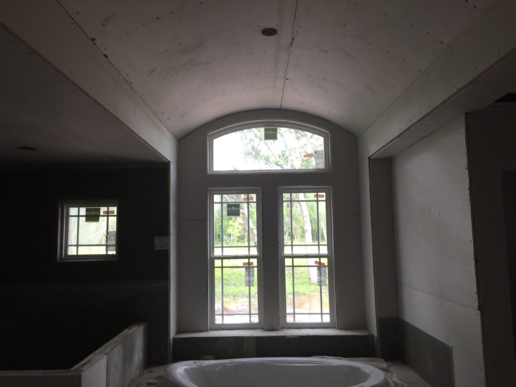 Sheetrock is Hung Master Bath