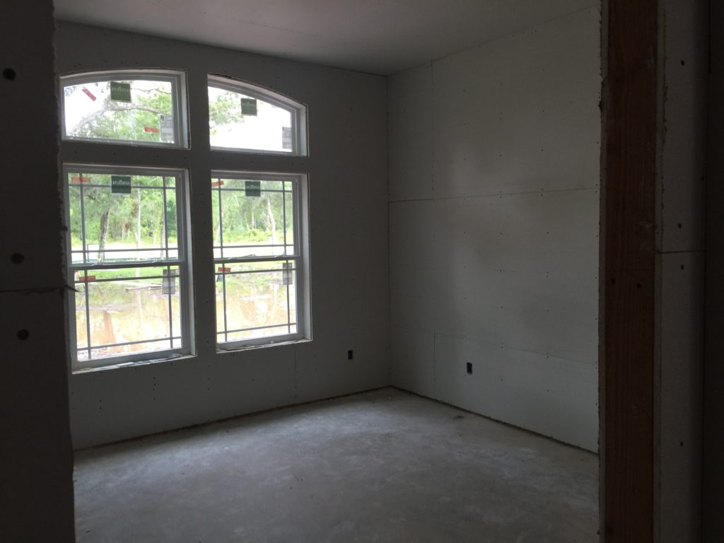 Sheetrock is Hung Guest Room