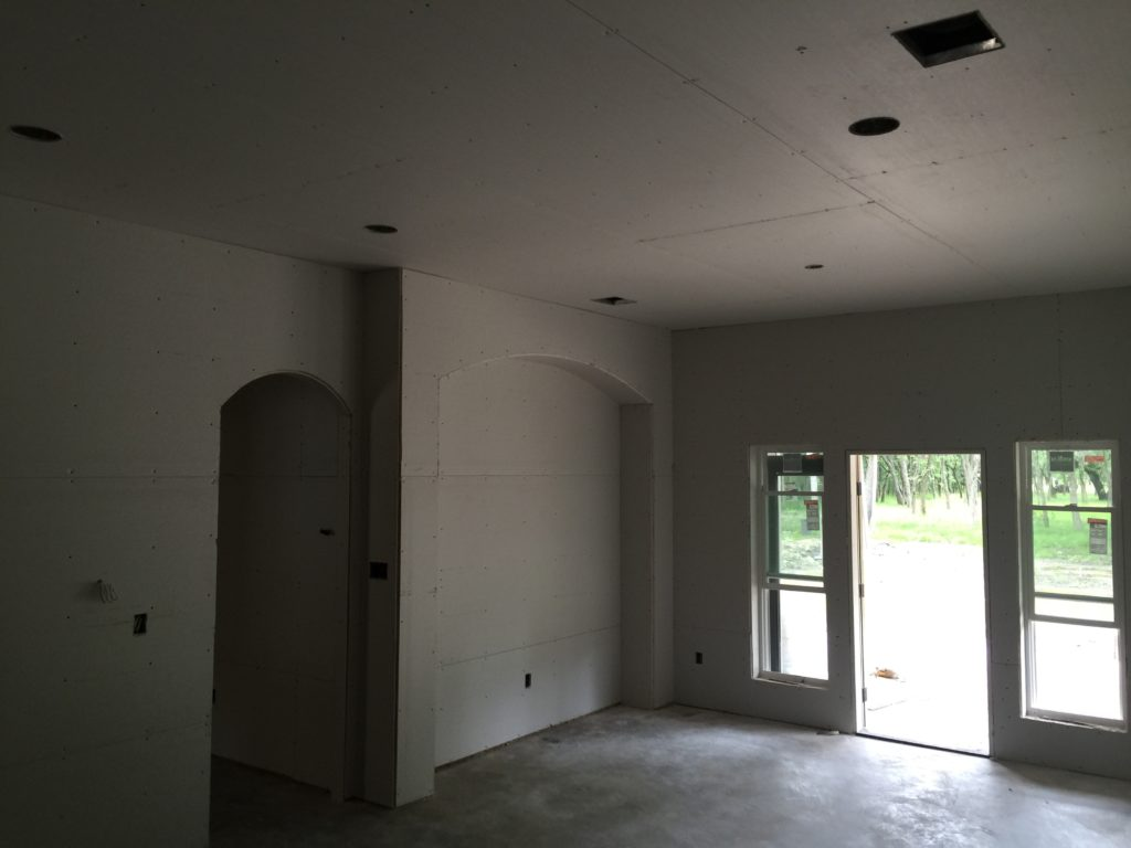 Sheetrock is Hung Dining Area