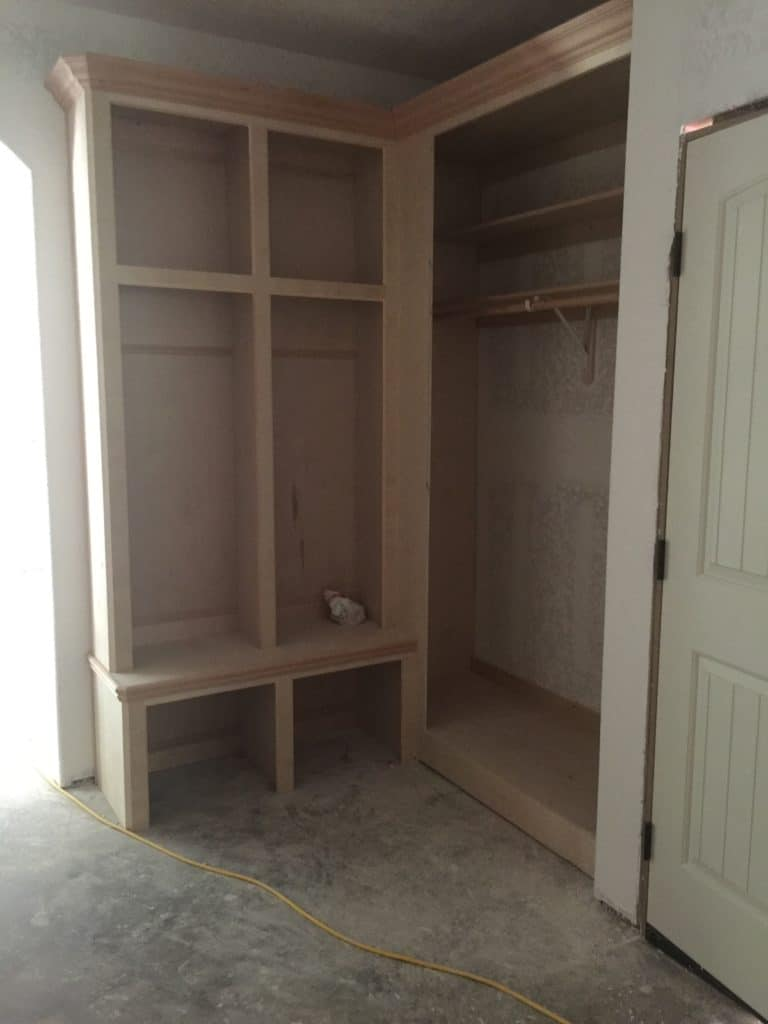 Mud Room Cabinets Unfinished