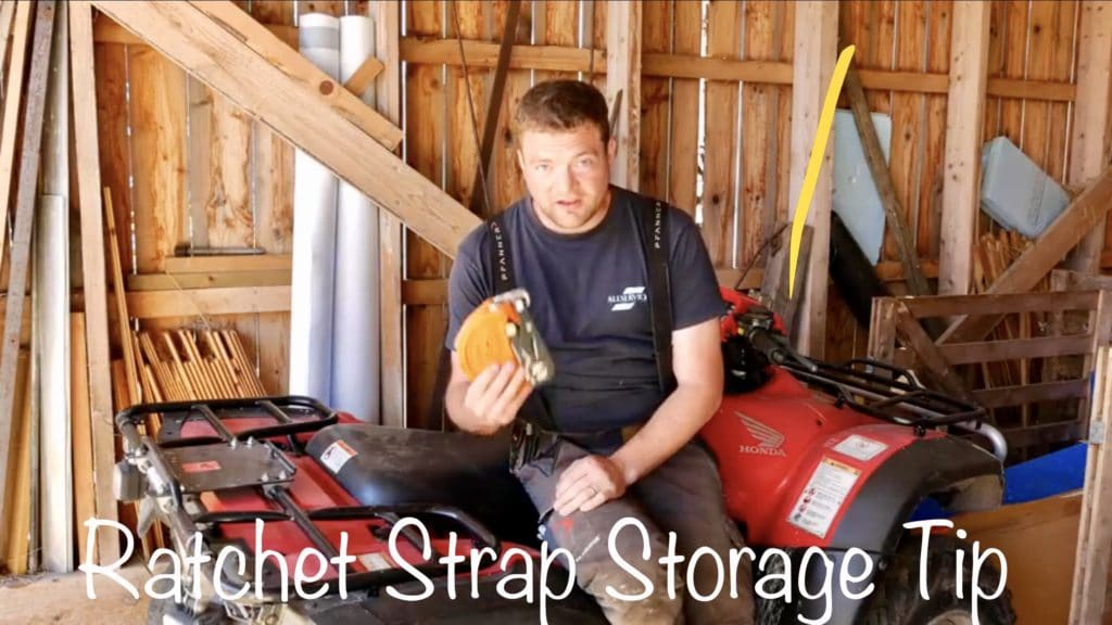 Ratchet Strap Storage